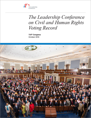 The Leadership Confence Voting Record 114th Congress Report Cover