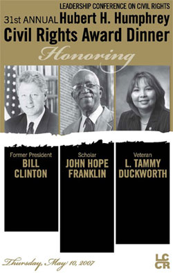 Program book cover with photos of the honorees.
